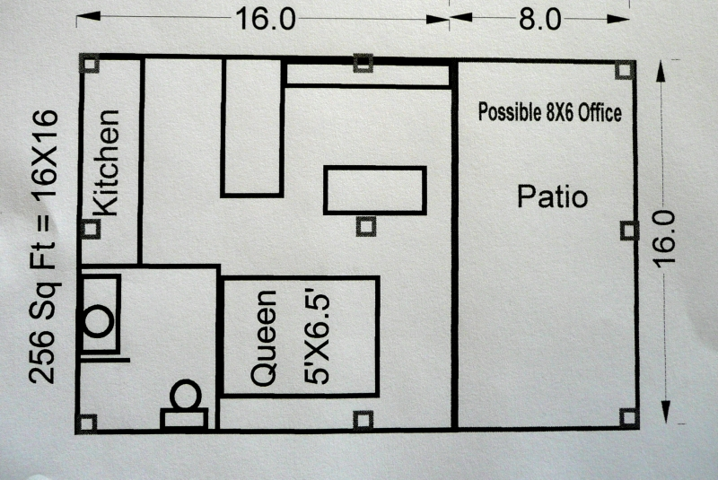 16 X 24 Cottage Floor Plans